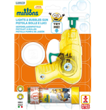 Dulcop Bubble World - Bolle Di Sapone - Pistola Bolle Con Luci Media - Minions - Blister 1 Pz 60 Ml