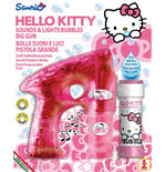 Dulcop Bubble World - Bolle Di Sapone - Pistola Bolle Con Luci Grande - Hello Kitty - Blister 1 Pz 60 Ml