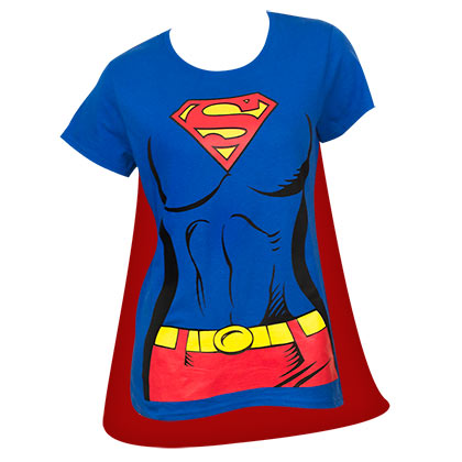 T-shirt Superman con mantello rimovibile - da donna