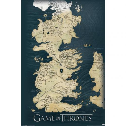 Poster Il trono di Spade (Game of Thrones) Map 210