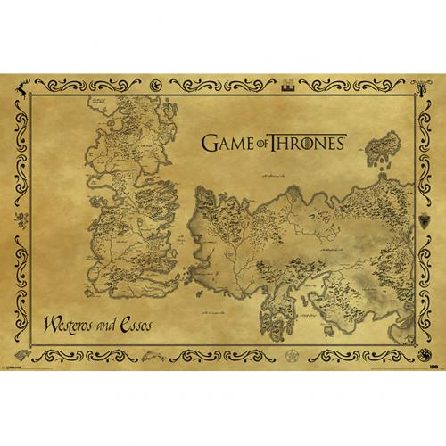 Poster Il trono di Spade (Game of Thrones) Antique Map 211