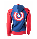 Captain America - Embroidery At Backside (felpa Con Cappuccio Donna )