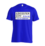 T-shirt Leicester City F.C. (Blu)
