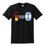T-shirt Germania calcio (Nero)