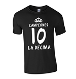 T-shirt Real Madrid La Decima (Nero)