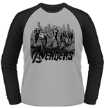 Avengers - Age Of Ultron - Team Art (T-SHIRT Unisex Maniche Lunghe )