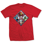 Avengers - Diamond Characters Rosso (T-SHIRT Unisex )
