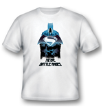 Batman V Superman - Epic Battle Rages (T-SHIRT Unisex )
