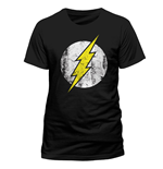 Dc Comics - Flash - Distressed Logo (T-SHIRT Unisex )