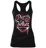 Suicide Squad - Property Of Joker Girls Tanktop Black (canotta Donna )