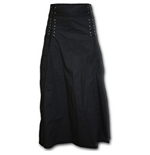 Spiral - Gothic Elegance - Laceup Long Skirt Black (gonna Donna )