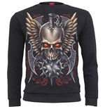 Spiral - Maced Skull Heavy Pique Sweat Shirt (T-SHIRT Unisex )