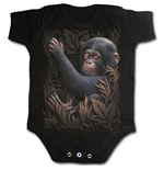 Spiral - Monkey Business Baby Sleepsuit Black (body Bambino )