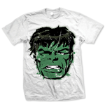 Marvel Comics - Hulk Big Head Distressed Bianco (T-SHIRT Unisex )
