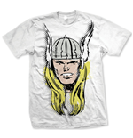 Marvel Comics - Thor Big Head Distressed Bianco (T-SHIRT Unisex )