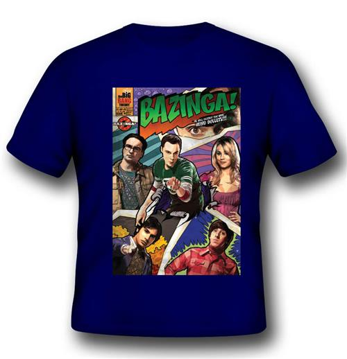 T-shirt Bazinga Comic Book Cover