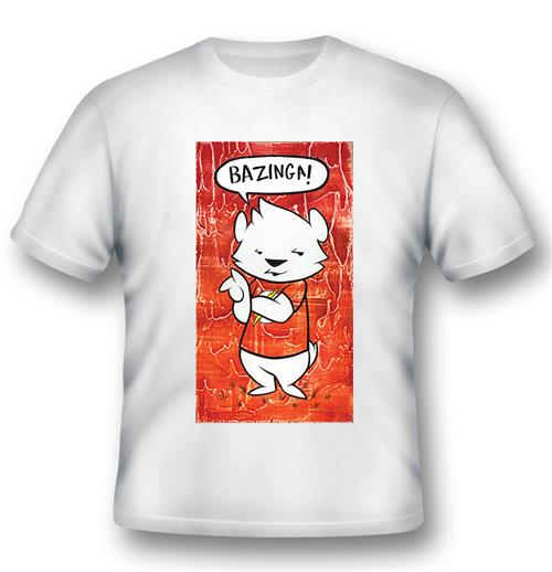 T-shirt Bazinga Cartoon Dog