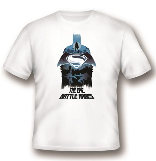 T-shirt Batman V Superman Epic Battle Rages