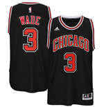 Canotta Chicago Bulls Dwyane Wade adidas New Swingman Alternate Jersey Nera