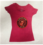 Rolling Stones (THE) - ZC15 Circle Logo Raspbarry Db Babydoll (T-SHIRT Donna )