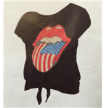 Rolling Stones (THE) - Usa Bling Tongue Black Knot (T-SHIRT Donna )
