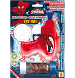 Dulcop Bubble World - Bolle Di Sapone - Pistola Bolle Con Luci Media - Spider-Man - Blister 1 Pz 60 Ml