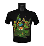 Teenage Mutant Ninja Turtles - Black Mutants Rule (T-Shirt Bambino )