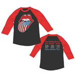 Rolling Stones (THE) - ZC15 Usa Tongue Tour Raglan (T-SHIRT Manica Lunga Unisex )