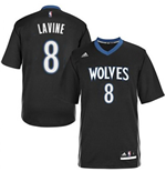 Canotta Zach Lavine Minnesota Timberwolves Lights Out Sleeved Swingman
