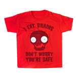 Plants Vs Zombies - I Eat Brains (Red) (T-Shirt Bambino Tg. )