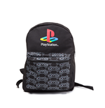 Playstation - Classic Logo With Controller Patern Reversible Black (Zaino)