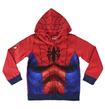 Felpa Spiderman Con Cappuccio e Zip