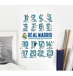 Sticker Murale Real Madrid 16 Players
