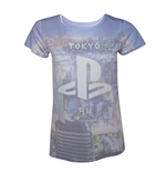 T-shirt PlayStation all over print da donna