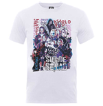 Dc Comics - Suicide Squad HARLEY'S Character Collage (T-SHIRT Unisex )