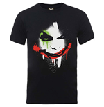Dc Comics - Batman Arkham City Halloween Joker Face Black (T-SHIRT Unisex )