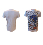 T-shirt Sonic the Hedgehog Checkered Background