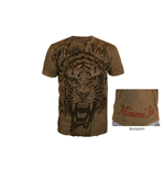 T-shirt Miami Ink - Brown Tiger