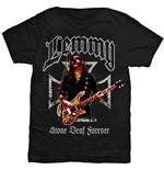 T-shirt Lemmy Iron Cross Stone Deaf Forever