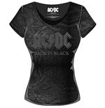 T-shirt AC/DC Back in Black da donna