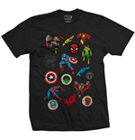 T-shirt Marvel Superheroes Random Badges