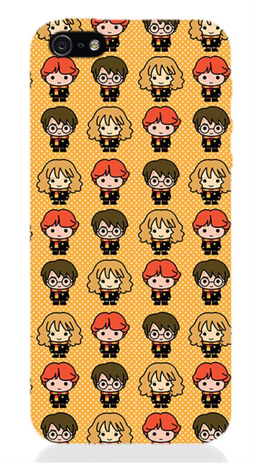 Cover Iphone 5 Harry Potter Protagonists Chibi Opaca