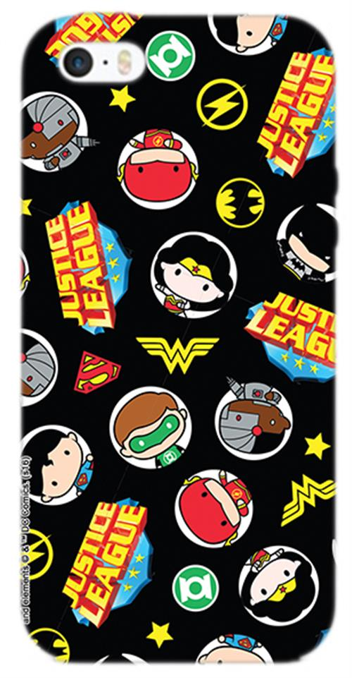 Cover Iphone 6-6S Dc SUPERHERO'S Medals Opaca