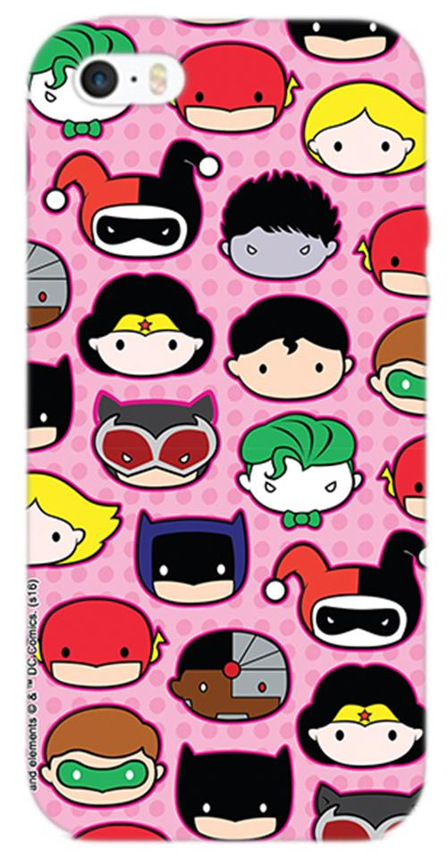 Cover Iphone 6-6S Dc SUPERHERO'S Faces Opaca