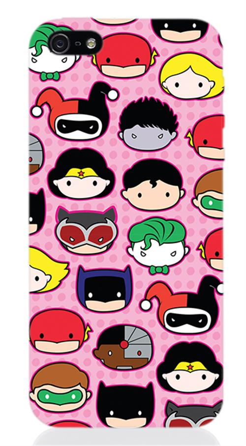 Cover Iphone 5 Dc SUPERHERO'S Faces Opaca