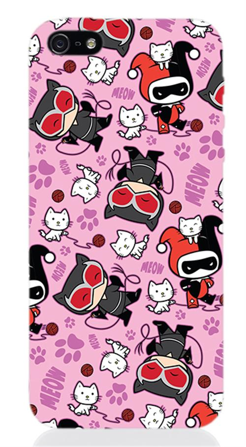 Cover Iphone 5 Catwoman And Harley Figure Opaca