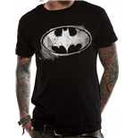 Batman - Logo Mono Distressed (T-SHIRT Unisex )