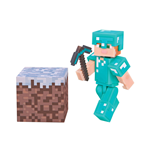 Statuetta Minecraft Alex In Diamond Armor 8 cm