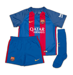 Mini Kit Barcellona 2016-2017 Home con sposnsor da bambino