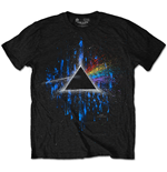 T-shirt Pink Floyd Dark Side of the Moon Blue Splatter